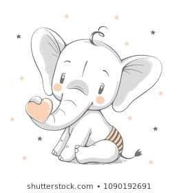 эскиз слона для росписи