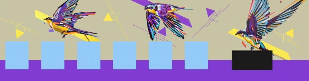рисунок птиц на стене