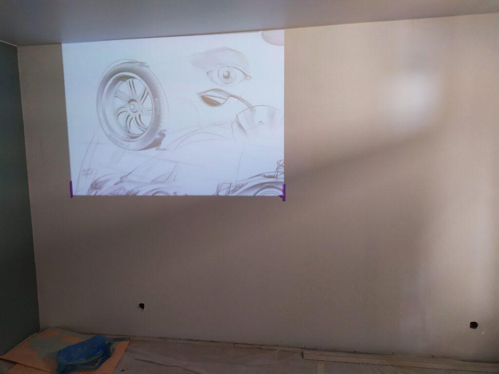 рисунок в детскую по проектору