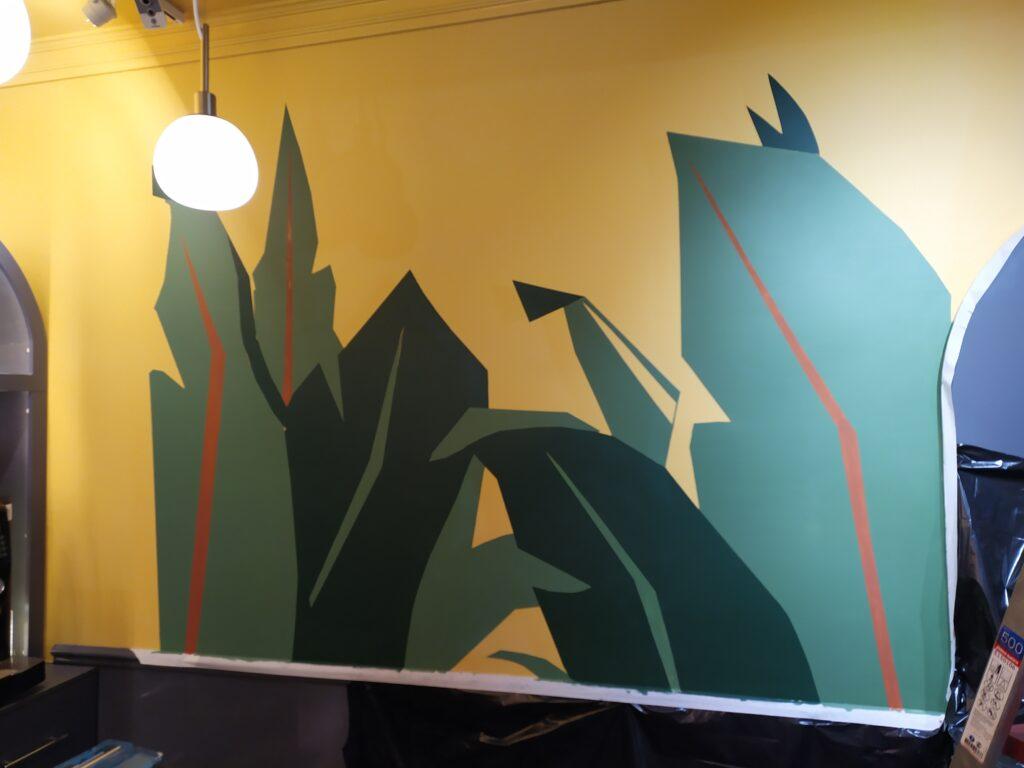 как рисуются тропические листья