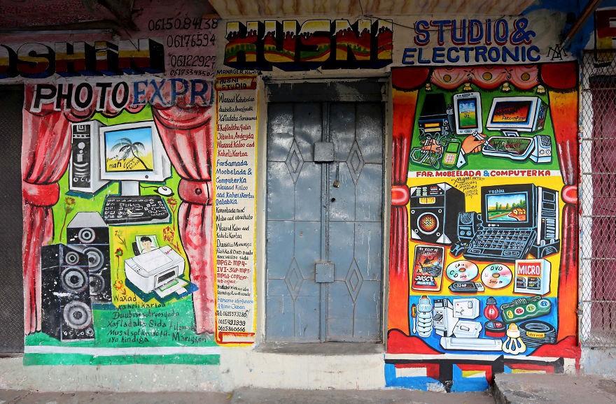 оформление магазина рисунком