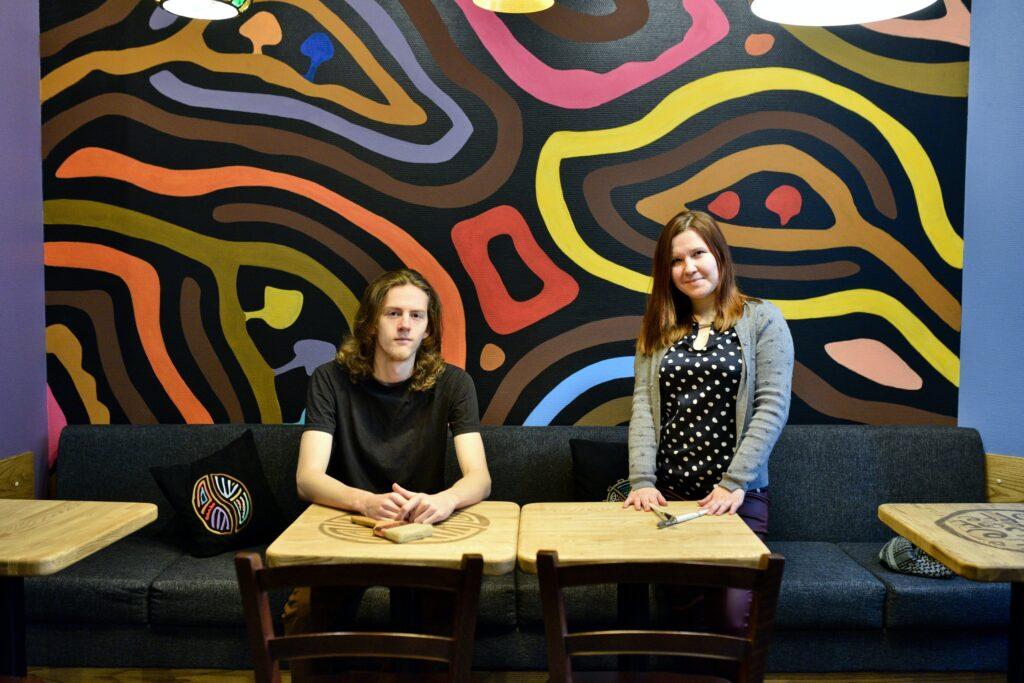 роспись стен в кофейне