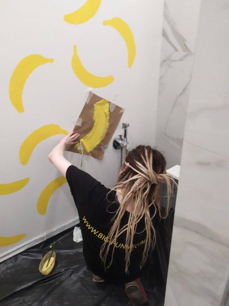 бананы в декоре