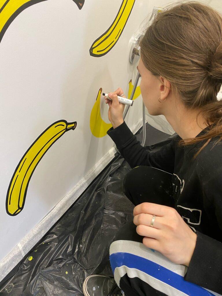 роспись бананами