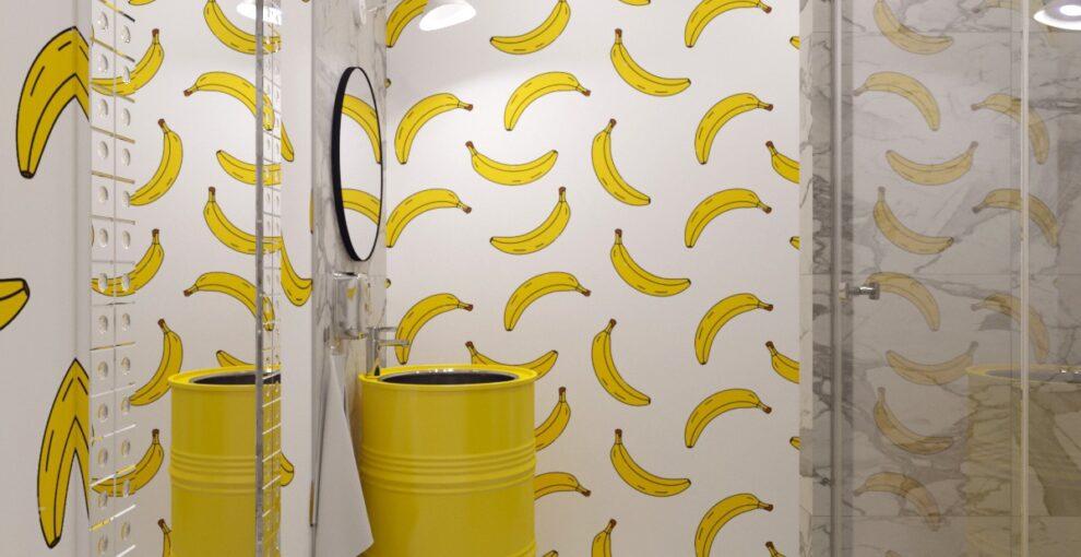 Трафареты для росписи стен своими руками. Бананы.