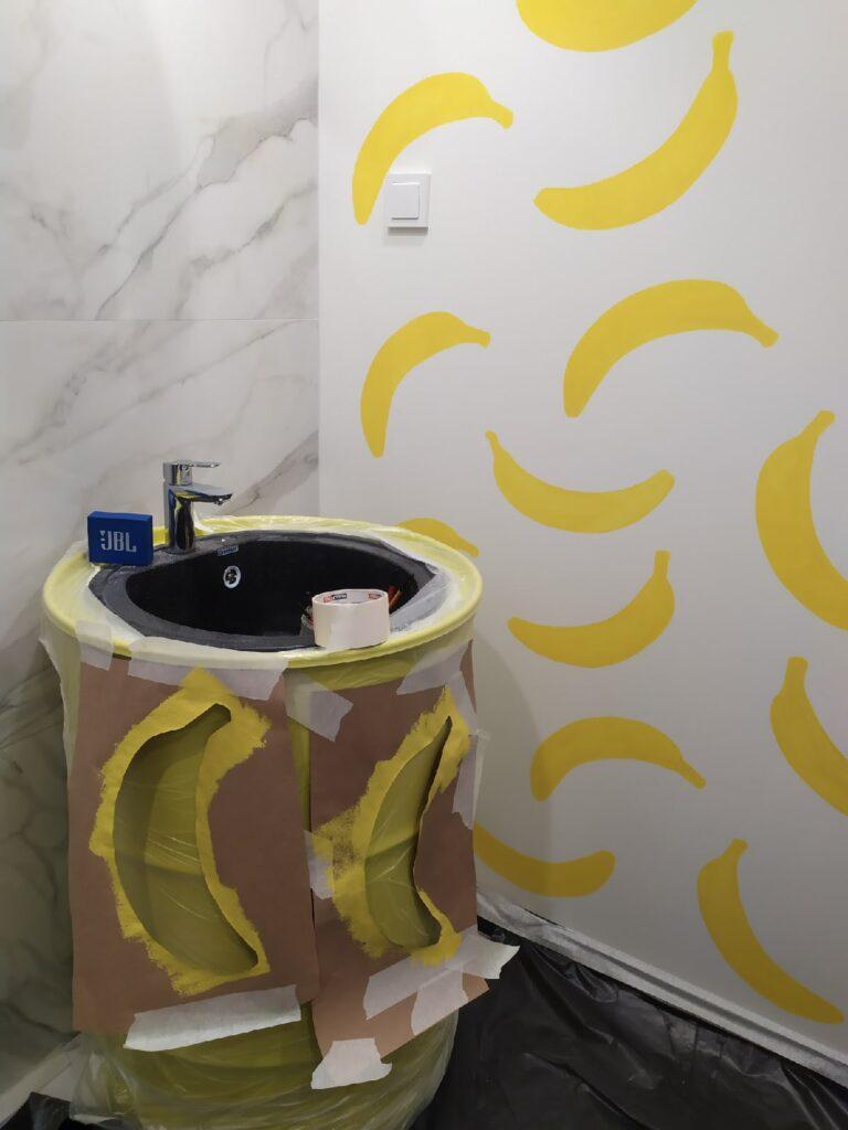 рисунок бананов дома