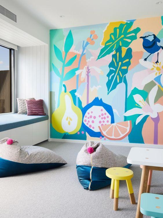 роспись стен цветами