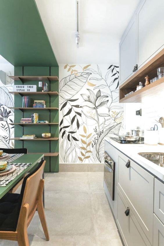 листочки на кухне