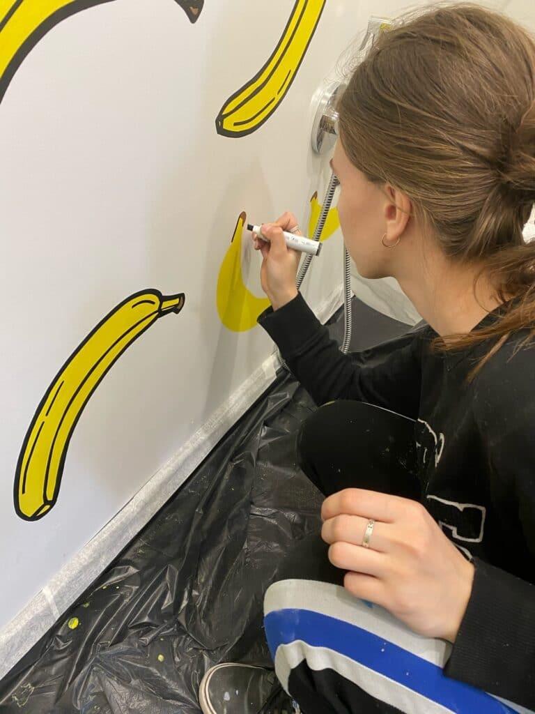 роспись стен бананы