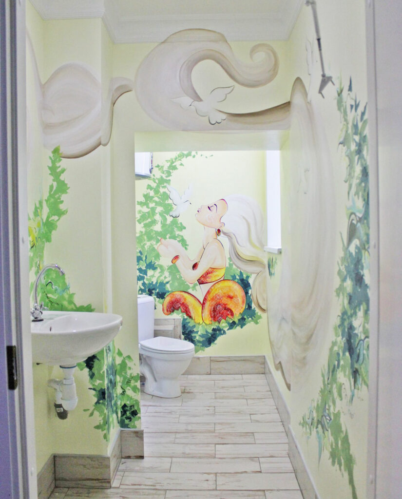 роспись стен ванна