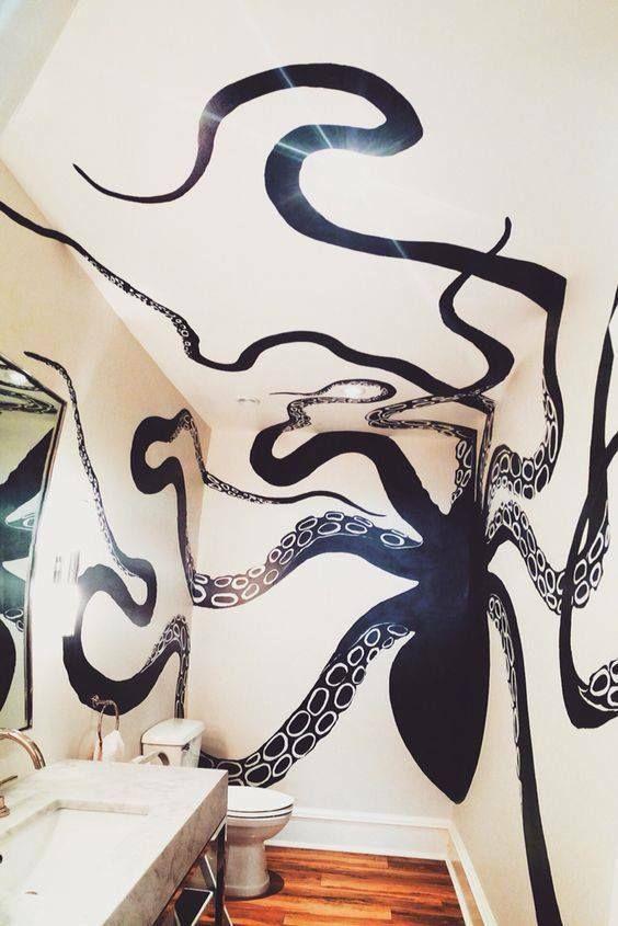 осьминог в интерьере