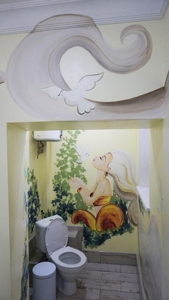 роспись в ванной комнате