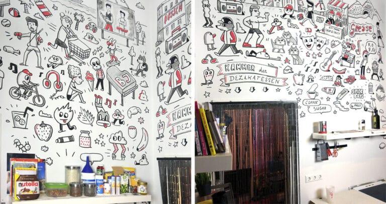 10 идей росписи стен на кухне