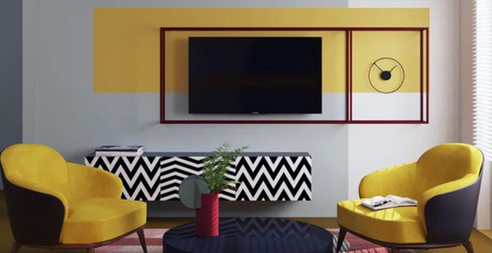 Роспись стен в гостиной. Идеи и фото