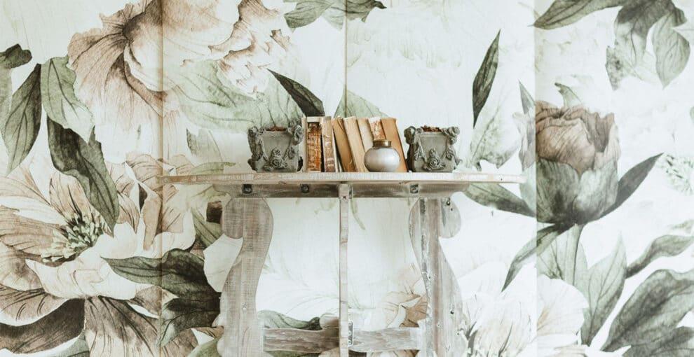 Роспись стен цветами — Дизайн в интерьере