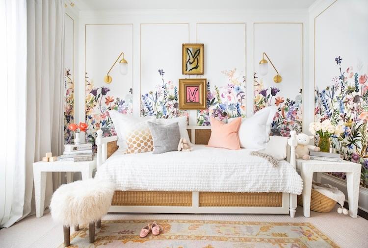 роспись стен цветы