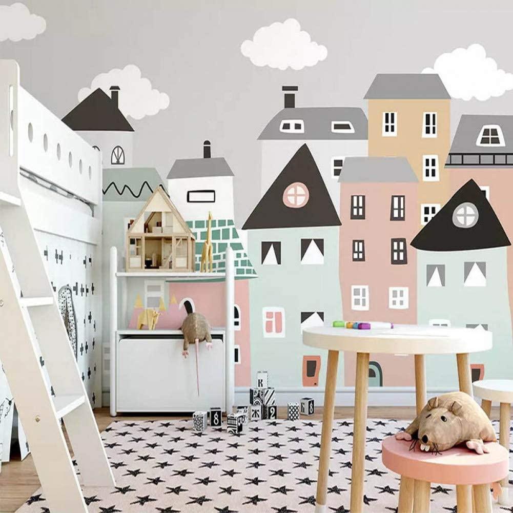 рисунок города на стене в детской