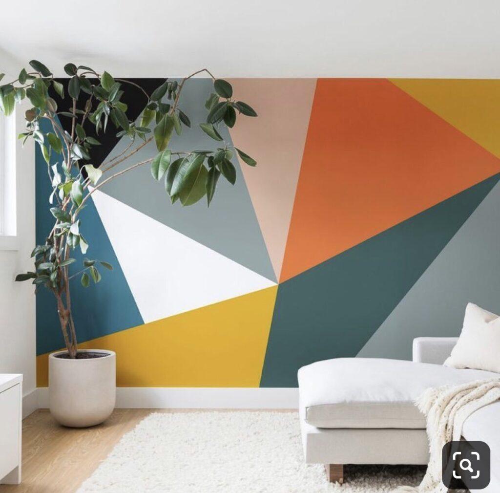 геометрия в гостиной роспись
