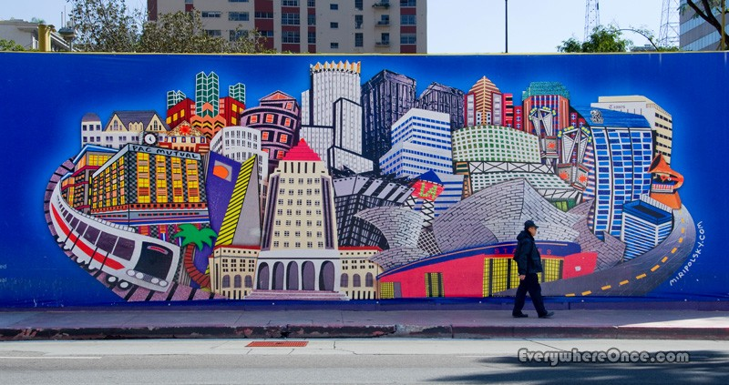 рисунок города в стрит арте