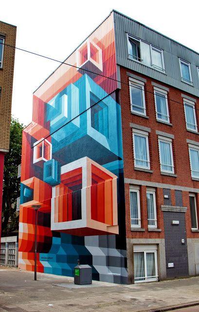 кубы на здании