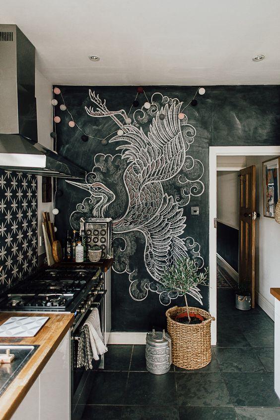 меловой рисунок кухня