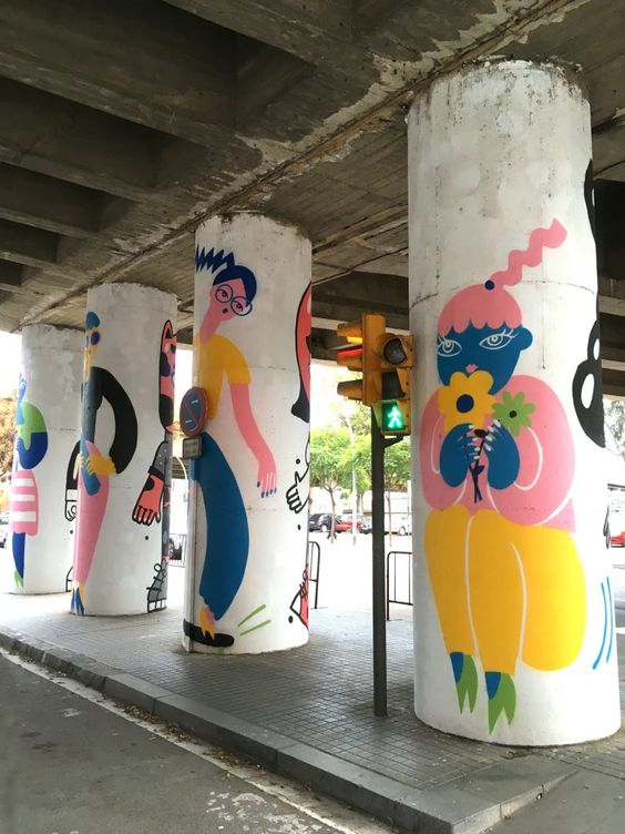 оформленные колонны