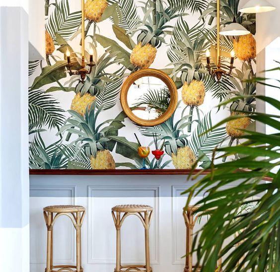 роспись гостиной фруктами