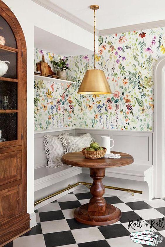 рисунок цветов на кухне