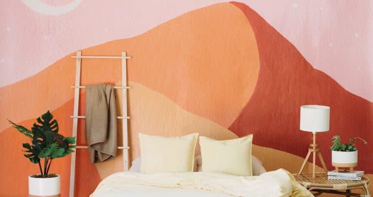 Подборка росписей стен в спальне