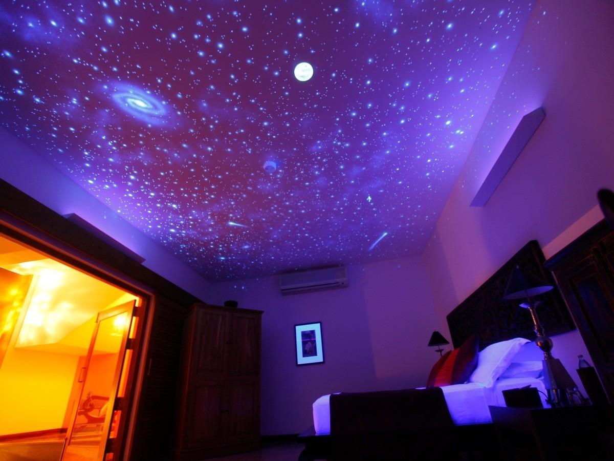потолок в зале сиренево розовое звездное небо фото гораздо круче, чем