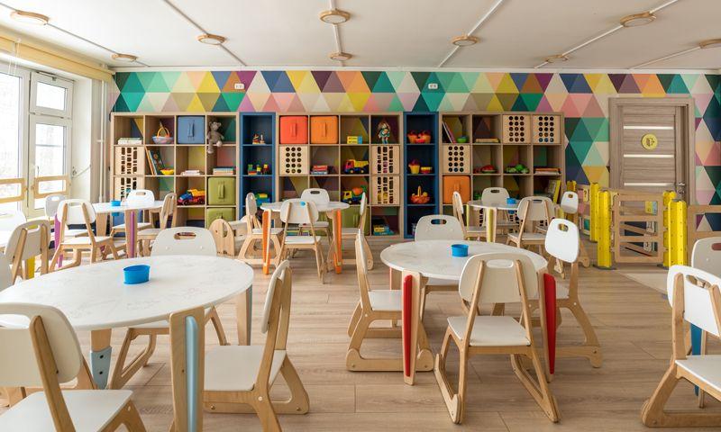 шкафы в детском саду роспись