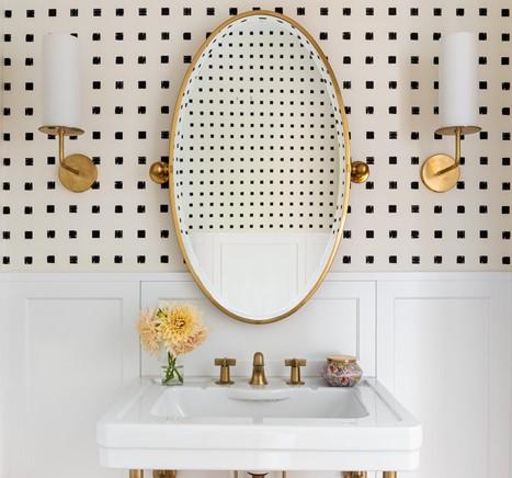 зеркало и свет в ванной