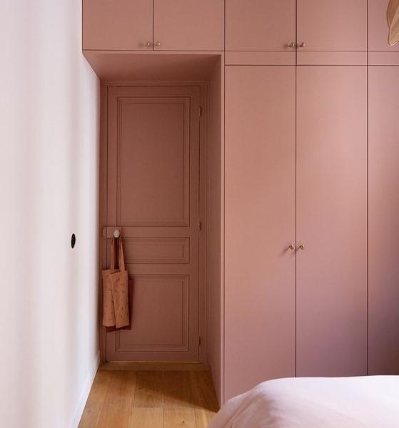 шкаф в цвет двери до потолка