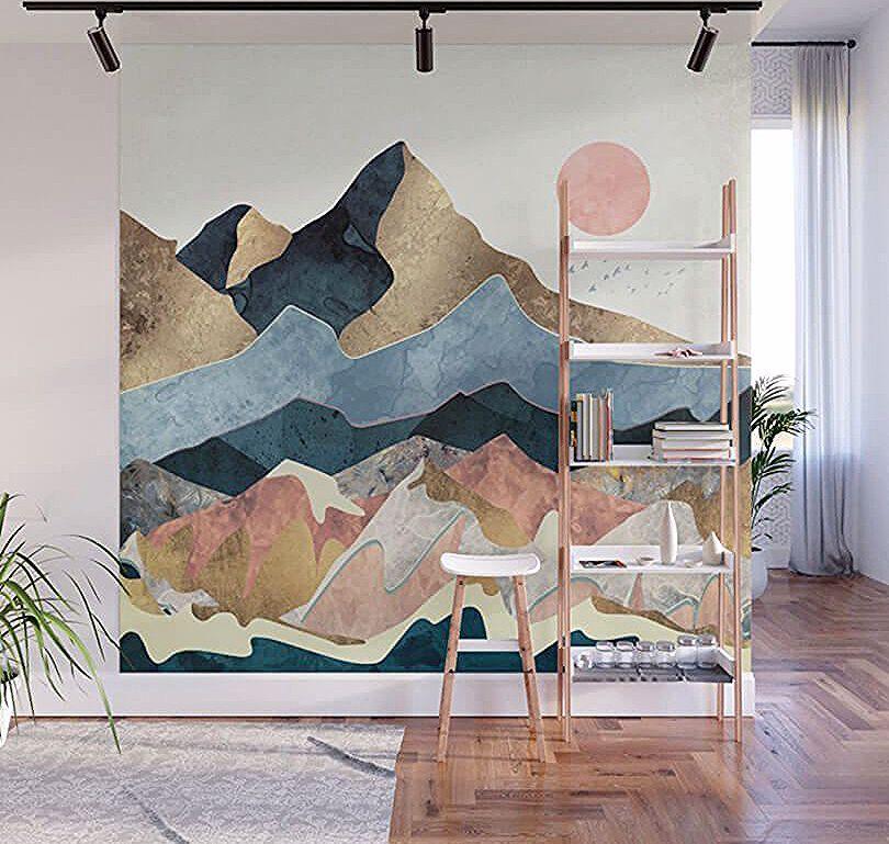 горы на стене