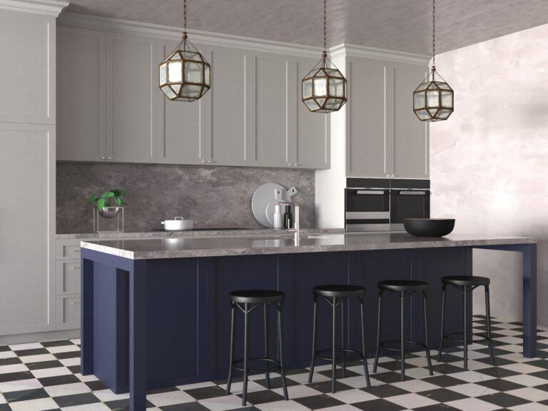 Проект дизайна интерьера кухни