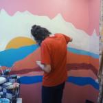 Как нарисовать горы на стене своими руками. Видео + инструкция