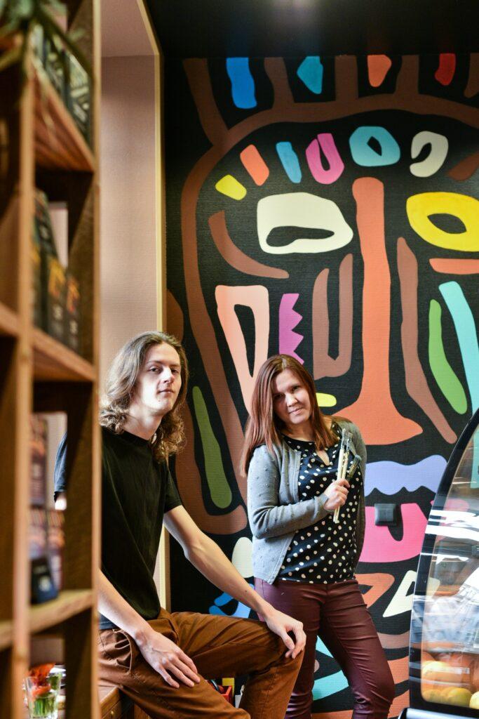 рисунок в кофейне tucano coffee