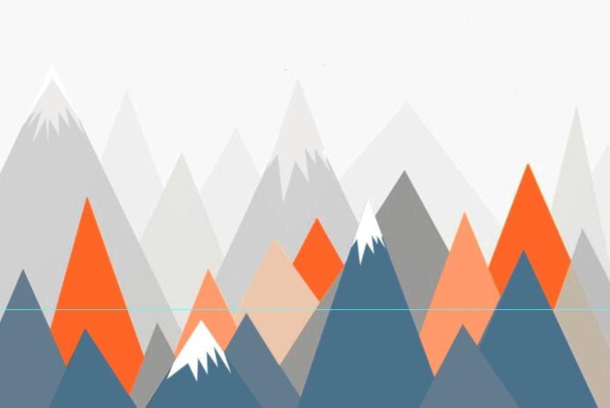 горы на стене эскиз