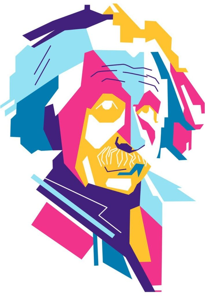 эйнштейн стилизованный арт