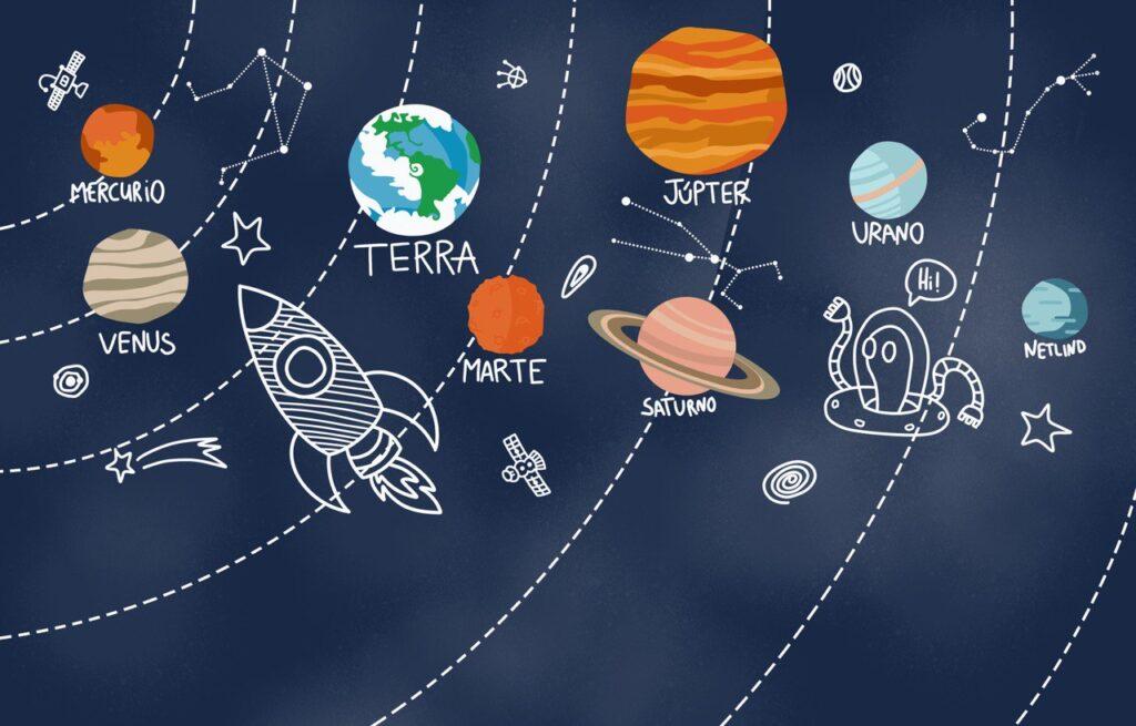космический рисунок