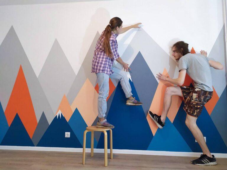 Роспись стен в детской в Санкт-Петербурге.